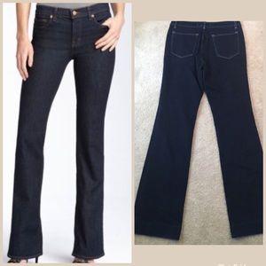 J Brand Women's Bootcut Xfit Lycra Jeans Dark Wash